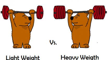 heavy vs light weight